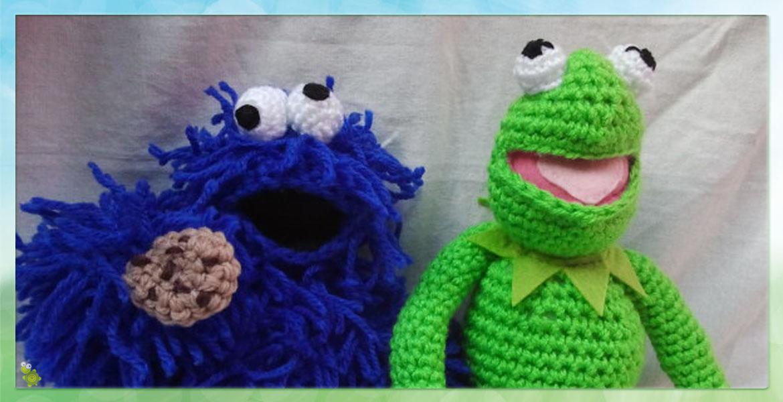 Monstruo de las galletas y Rana Gustavo